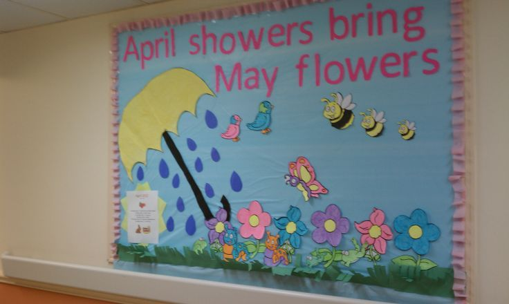 April Showers bring May flowers bulletin board | April | Pinterest | Flower bulletin boards, May flowers and Bulletin boards