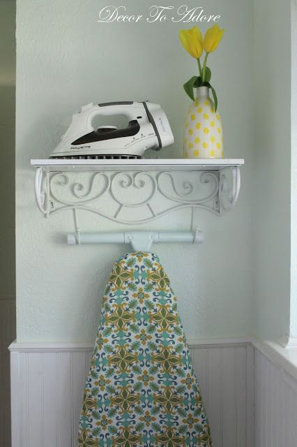 Decor To Adore: A Pretty Storage Solution for an Iron and Ironing Board