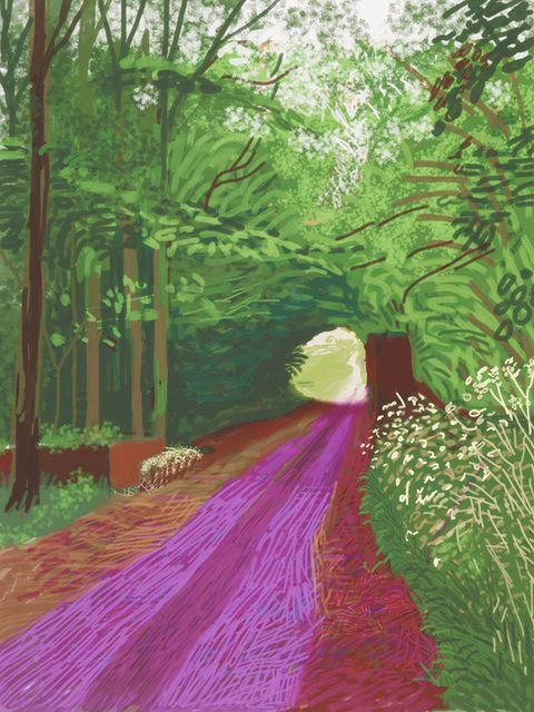 The Arrival of Spring in Woldgate, East Yorkshire in 2011 - 31 May, 2011, by David Hockney