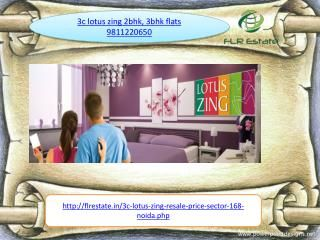 3C LOTUS ZING 9811220650 2BHK 3BHK FLATS PRICE