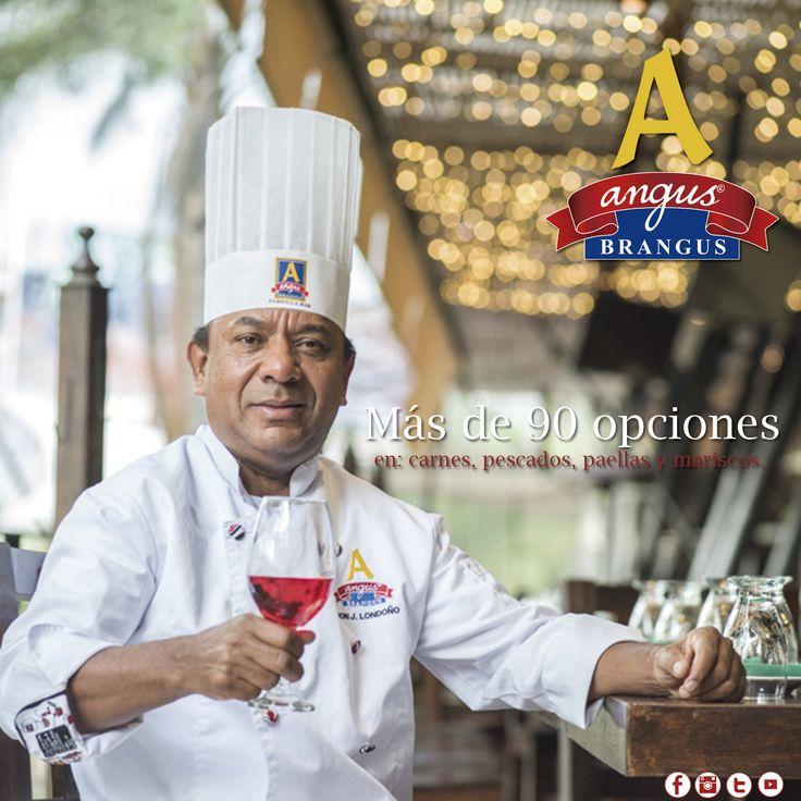 Inicia tu semana disfrutando exquisitas recetas de la gastronomía internacional, en Angus Brangus Parrilla Bar  encontrarás más de 90 opciones en carnes, pescados, paellas y mariscos.   Info y reservas: 2321632 - 3107006602. Cra. 42 # 34 - 15 / Vía las Palmas  www.angusbrangus.com.co  #RestaurantesMedellín #AngusBrangus #Parrilla #Dondecomer #recomendadosmedellín #Bar #Medellín #gastronomía #martes