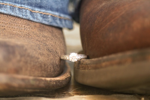 Her boot, the ring. His boot<3