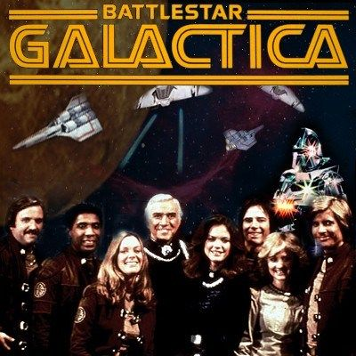 Battlestar Galactica. Pure cheese in all it's 70's glory, but I loved it.