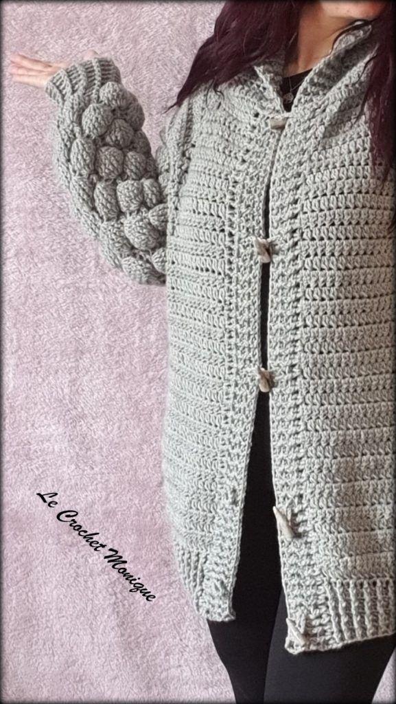 Háčkovaný sveter BalloonCrochet balloon sweater Dnes tu mám