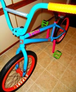 AARON ROSS OCEAN BLUE SUNDAY FUNDAY W/ODYSSEY-GSPORT PARTS BMX BIKE