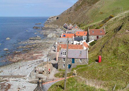 End-On View of Crovie, a peaceful little place on the coast of the North Sea. If I could buy a vacation home....