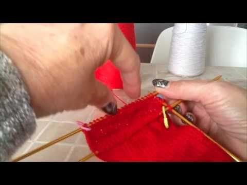 Come fare la calza con i ferri della nonna - tallone a clessidra e punta