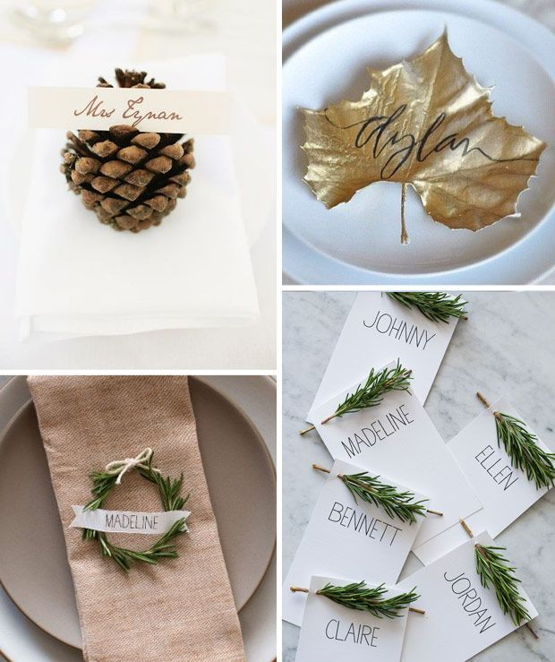 Winter Wedding - Placecards | onefabday.com