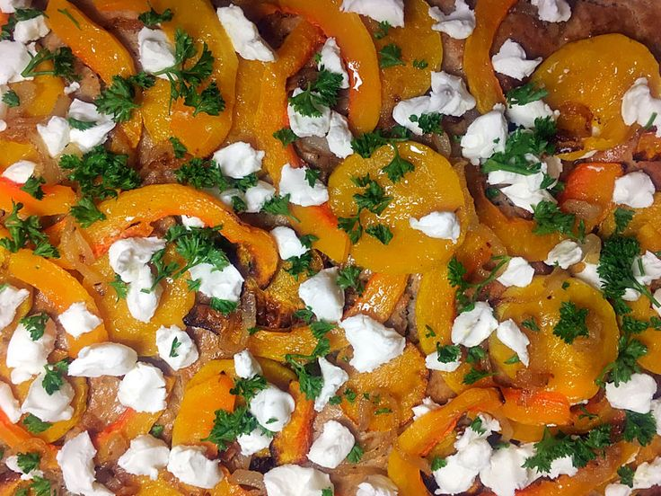 Roasted Butternut, Caramlised Onion and Goats Cheese Rye Flatbread made in 1 hour
