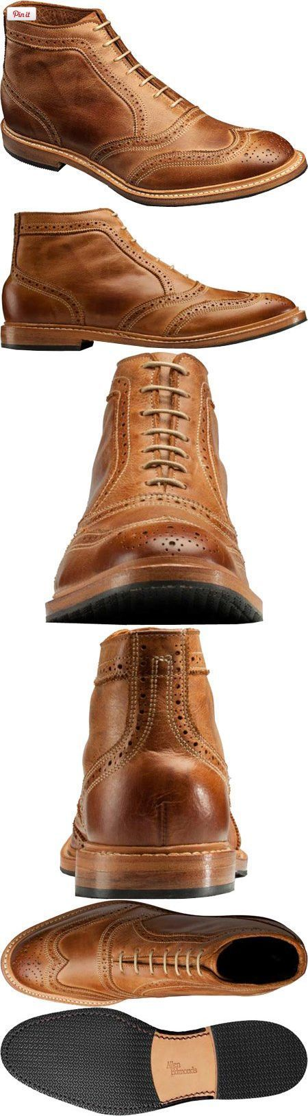 Allen Edmonds Men's Cronmok Tan Leather 9 B US, Enjoy understated style in the Allen-Edmonds Cronmok lace-up boot. The supple leather upper of this ruggedly-sophisticated men's shoe boasts perforation details for a cool look and feel. A durable syn..., #Apparel, #Boots - nice mens shoes brands, latest shoes for mens, mens wedding shoes