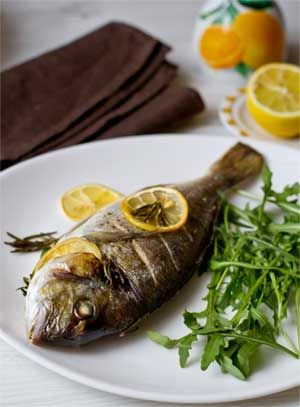 Baked Whole Sea Bream with Rosemary and Parsley recipe