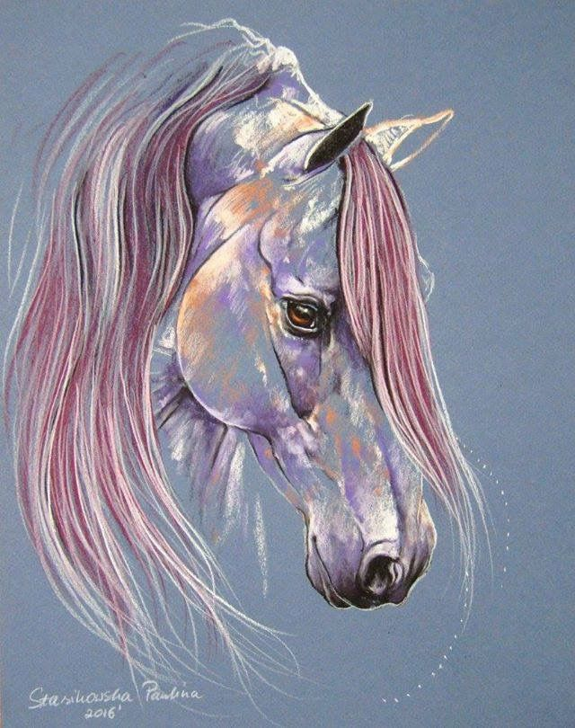 Pink horse drawing. Pauline Stasikowska