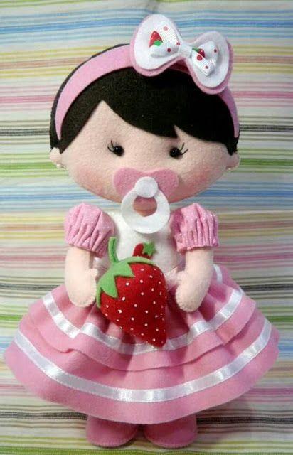 Bonecas com moldes para feltro Baixar moldes de feltro para produção de bonecas. Inspire-se nestas lindas bonequinhas em feltro . ...