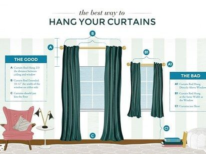 Get actual curtains or hang your current curtains higher. | 21 Cheap Ways To Make Your Bedroom Feel Brand New