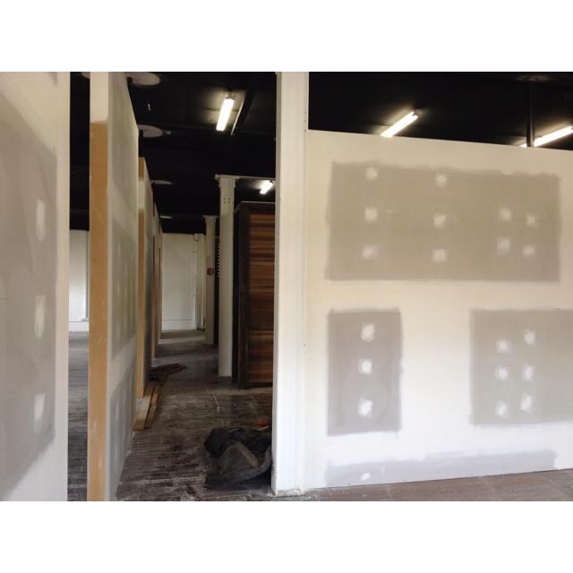 Hallway looking from designer area to developer