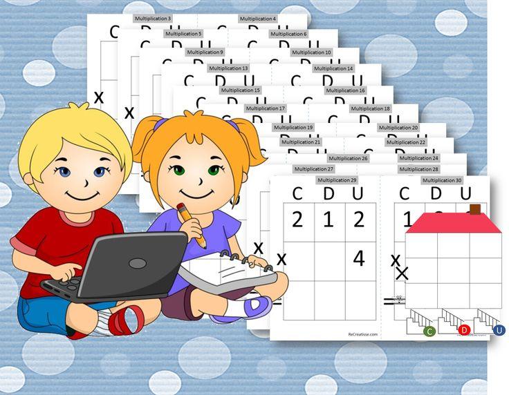 ATELIER ENTRAINEMENT multiplications : Découper sur les pointillés et plastifier les fiches. L'auto – correction peut être placée à part ou découpée et collée au dos de chaque multiplication. ENTRAINEMENT MULTIPLICATIONS CDU CORRECTION ET FICHE DE SUIVI ENTRAINEMENT MULTIPLICATIONS ATELIER POSE ET CALCULE : La maison à plastifier pour que les élèves …
