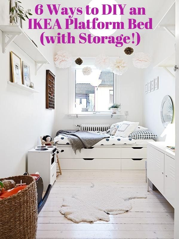 IKEA DIY Ideas: 6 Ways to Make Your Own Platform Bed (with Storage!) //