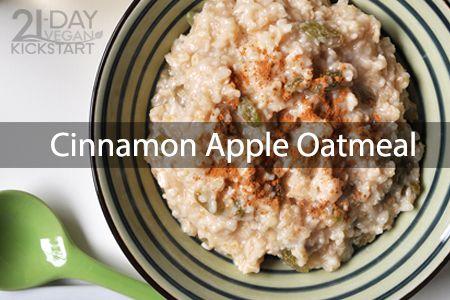 1日目 朝食:アップル・シナモン・オートミール
