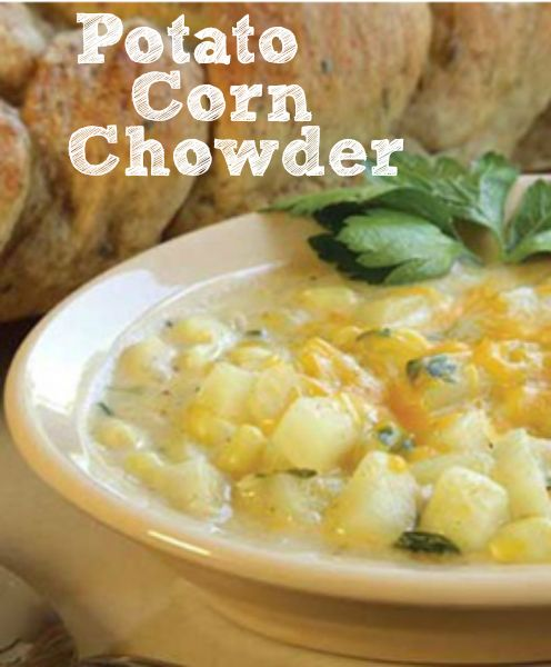 Potato Corn Chowder  I have lived in New England my whole life, and just tried chowder a few months ago for the first time! I would love to try and make my own.