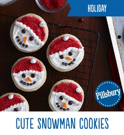 Holiday season with these cute snowman cookies a kid friendly holiday