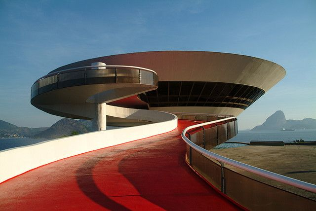 Contemporary Art Museum by Oscar Niemeyer, Niteroi, Rio de Janeiro photo by gandy_