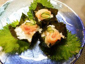明太子イカのカップ寿司 by ohaginehan 【クックパッド】 簡単おいしいみんなのレシピが277万品