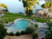 Réf. V357.5 - Villa de standing 6 personnes, piscine jacuzzi , pieds dans l'eau  Porto-Vecchio et l'Extrême Sud (ROUTE DE CALA ROSSA) www.louercorse.com
