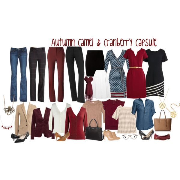Autumn Camel & Cranberry Capsule by kristin727 on Polyvore featuring Diane Von Furstenberg, J.Crew, MINKPINK, Isaac Mizrahi, Paige Denim, Lanvin, Miss Selfridge, New Look, Nine West and rsvp
