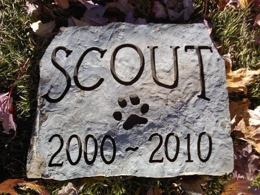 DOG MEMORIAL Stone by CarvedStone on Etsy, $25.00