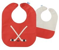 This is super cute for the little fan - Leather Hockey Bib