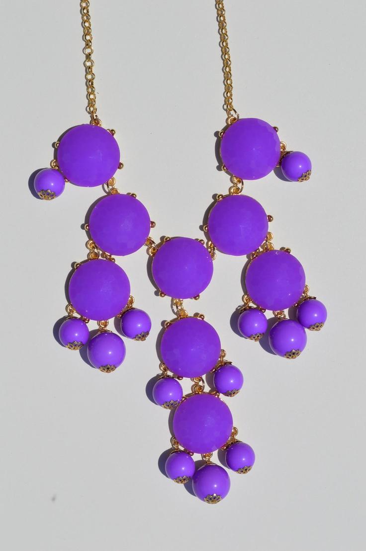 Bubble Necklace - Bright Purple Statement Necklace. $34.00, via Etsy.