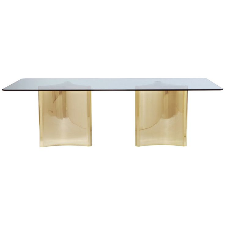 Bernhardt Interiors Abbot Metal Dining Table with Glass Top