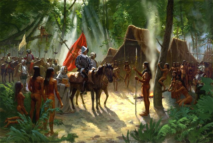 Savages of the New World, De Soto Expedition, Summer 1539