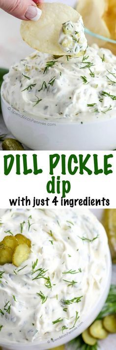I've made this so many times!! This Dill Pickle dip is one of our favorites needing only 4 ingredients and 5 minutes! The perfect quick dip for parties and snacks!