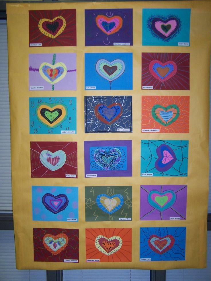 Classroom Paper Quilt Ideas ~ Th grade heart quilt quilts pinterest