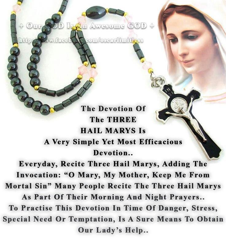 Devotion of 3 Hail Marys