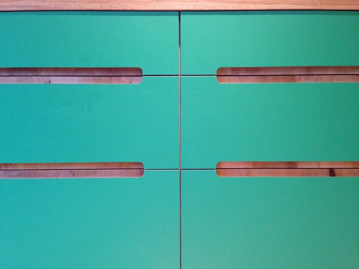 Laminated plywood routed finger pull detail