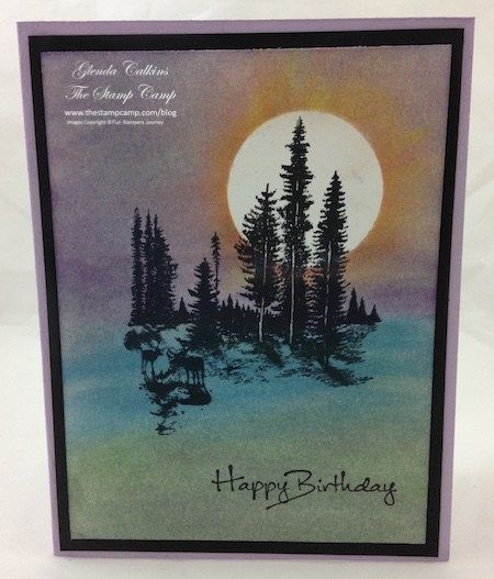 The Stamp Camp - Glenda Calkins Fun Stampers Journey Coach Scenic Backgrounds with the PanPastels www.thestampcamp.com