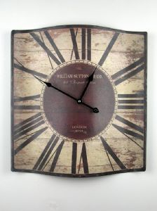 Rustic Roman Numeral Wall Clock - Brown. Approximately 46cm, also available in black & white and blue