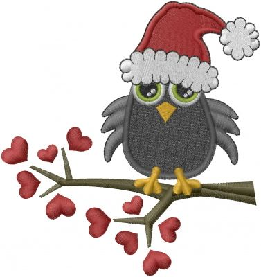Christmas Owl Tree Embroidery Design   AnnTheGran