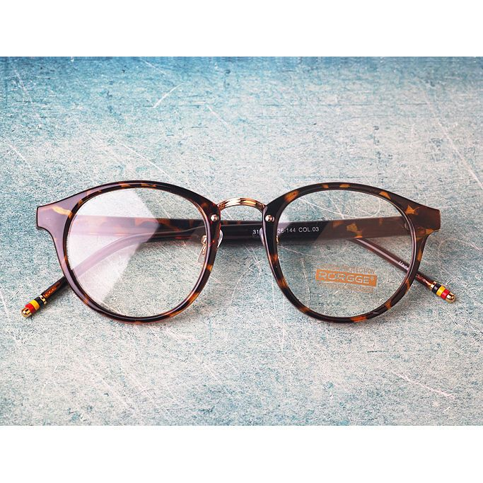 Details zu Nerd Brille filigran rund Glasses Klarglas Hornbrille treber retro…