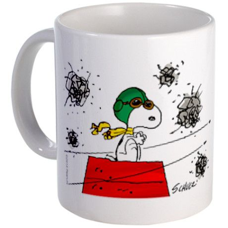 Flying Ace Dodging Bullets Mug #Mug #Snoopy