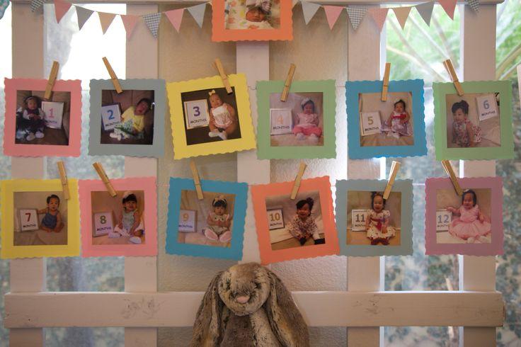 #baby #milestones #photos #whitefence #bunnybirthday #popular #diy