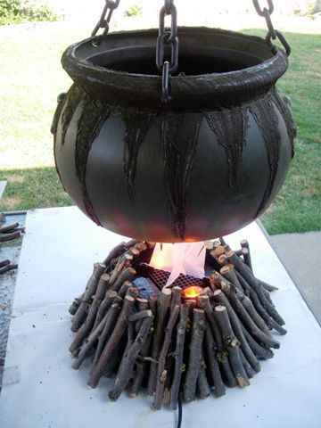 How to make a witch's cauldron fire.  #Halloween #Holidays #Tutorial
