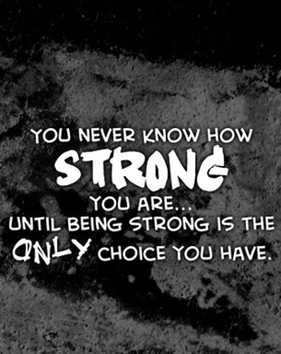 awesome Strength Quotes: How Strong You Are, Only Choice You Have Quotes about Strength