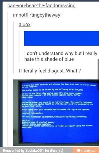 That's a terrible blue...