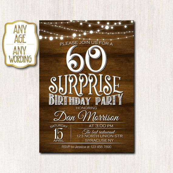 Top 25 ideas about Surprise Birthday Invitations – Surprise Birthday Invitations for Him