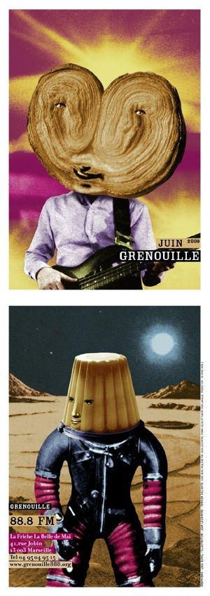 Visuel radio Grenouille par Lola Duval