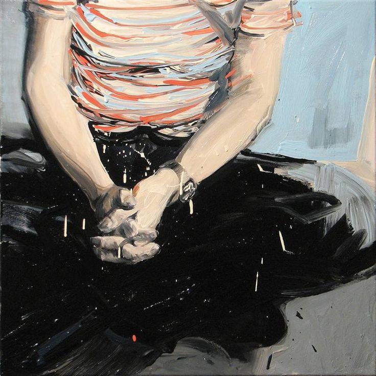 """""""Nie Takie Dramaty Widzial Swiat,"""" figurative painting by artist Robert Bubel (Poland). Go inside his studio: http://magazine.saatchiart.com/articles/artnews/saatchi-art-news/inside-the-studio-saatchi-art-news/robert-bubel"""