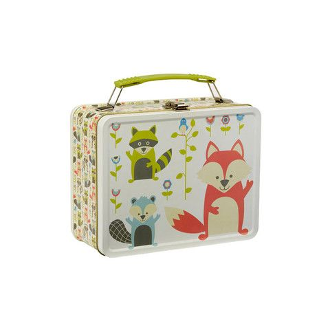Fox Retro Metal Lunch Box - mini mioche - organic infant clothing and kids clothes - made in Canada